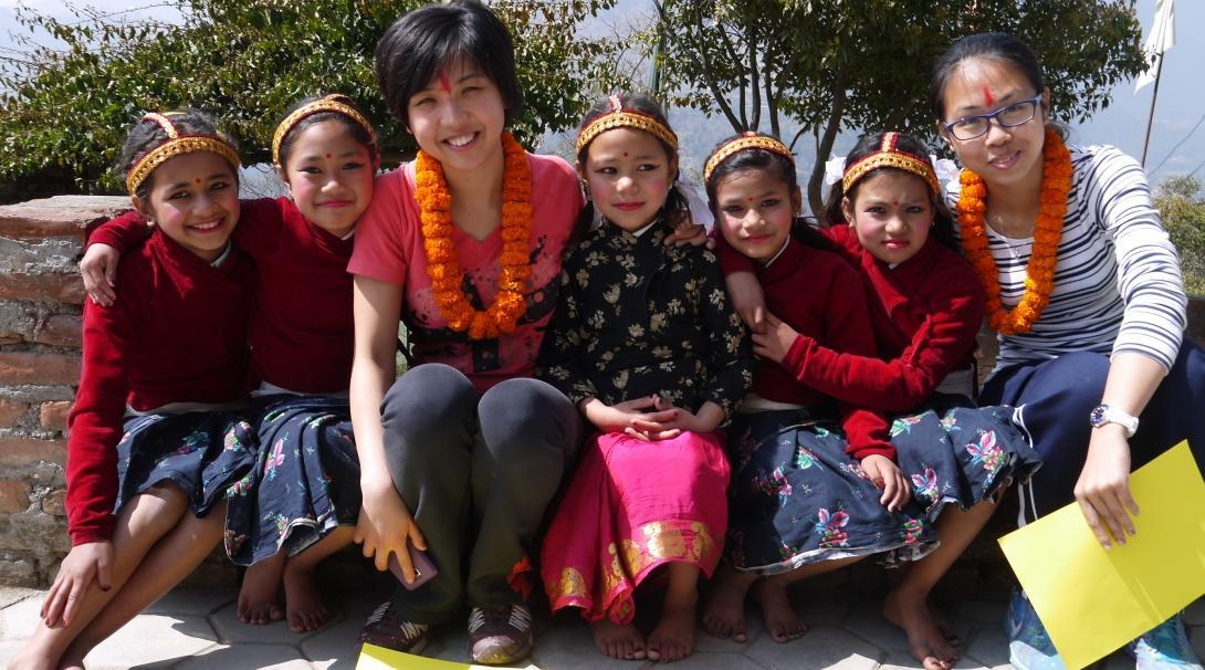 As part of community work in Nepal, Projects Abroad volunteers on a group trip learn about each other's cultures.
